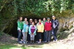 Our group gathered at Mass rock with Niamh