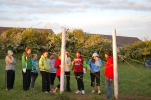 Spider Challenge at the Low Ropes Course