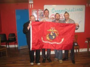 Steve donates his unit flag to the DAC