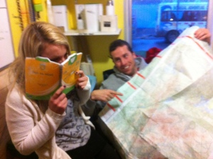 Gemma is fascinated by Dickie's map reading skills