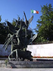 Children of Lir statue , garden of remembrance