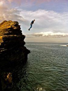 Yesterdays cliff jump