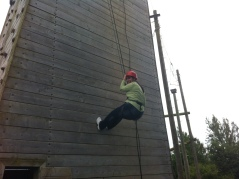 Monica, Spanish leader tries some abseiling