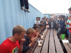 Cracker eating competition