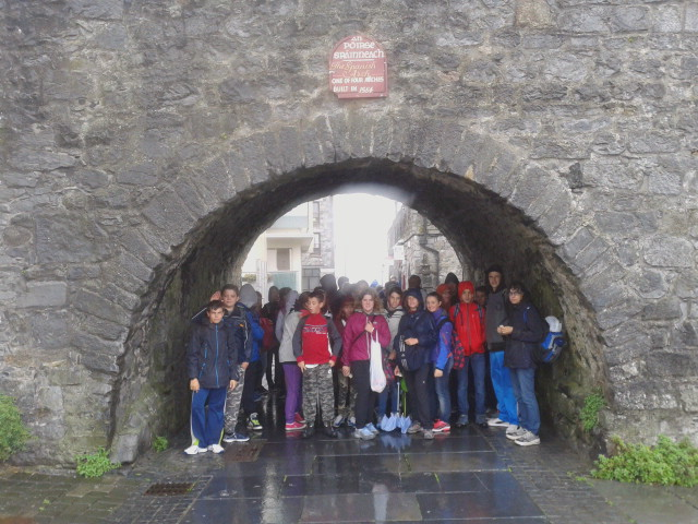 The gang at the Spanish arch